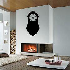Sticker mural Horloge géante Comtoise suspendue 2 avec mécanisme aiguilles