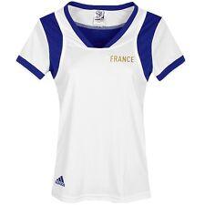 Adidas ClimaCool Damen Laufshirt Sport T-Shirt Tank Top Tee Frankreich weiß/blau