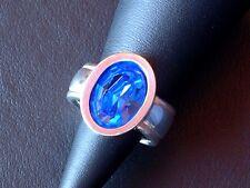 Designer Ring - Saphir - Sterling Silber - 925 - Oval Schliff