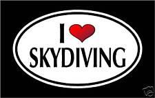 "5.75"" I LOVE SKYDIVING vinyl decal sticker.. SKY DIVING"