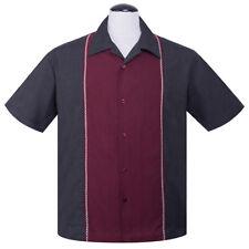 Steady Clothing 50er Retro Vintage bowling camisa camiseta-country Diamond Stitch
