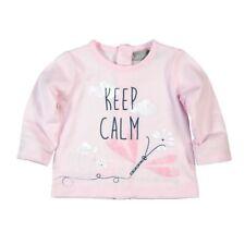 Bóboli Niña camiseta de manga larga bebé Keep calm rosa Talla 56 62 68 74 80 86