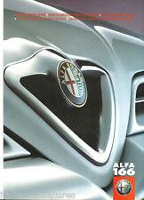 Alfa Romeo 166 Colour Trim Options Brochure 1998 Glossy 8 Page Brochure