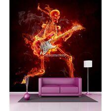 Stickers géant déco Squelette avec sa guitare 11078 11078