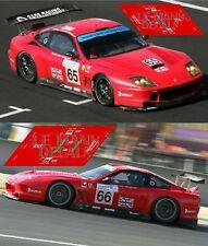 Calcas Ferrari 550 GTS Le Mans 2004 65 66 1:32 1:24 1:43 1:18 slot decals
