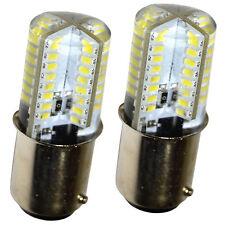 2x HQRP 64 LEDs 3W BA15d Base LED Bombilla para Singer serie Máquinas de Coser