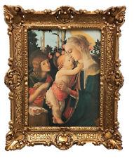 Gemälde Jesus Maria Ikonen Heiligenbild mit Rahmen 56x46 cm Religiöse Bilder Neu