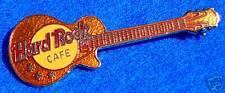GOLD NO LOCATION METALLIC MESH GIBSON GUITAR Hard Rock Cafe PIN CAT VALUE $125!