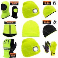 Mens Adults HI VIZ Visibility Thermal Woolly Beanie Hat Gloves Snood Balaclava