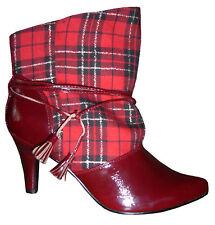 High Heels Stiefel Pumps Gothic Rauten Karos kariert 35 36 37 38 39 40 41 Neu