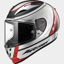 LS2 Arrow C EVO Race Crash Helmet - Carbon Chrome Indy Pinlock & Tear off ready