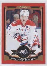 2015 O-Pee-Chee Red Border #68 Nicklas Backstrom Washington Capitals Hockey Card