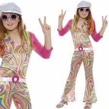 Girls 1960s Costume Fancy Dress Jumpsuit