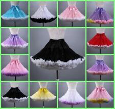 Hot Women Dance Ballet Party Fluffy Full Tutu Petticoat Skirt Adult Mini Dress
