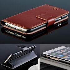 """Fait main en cuir porte carte wallet flip case pour Nouveau iPhone 6 4.7 """" 6 plus 5.5"""""""