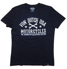 VON DUTCH T-Shirt Bikershirt Print Black