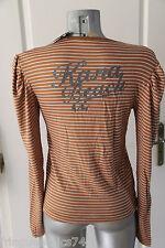 t shirt sweat KANABEACH burnit T 38 NEUF ÉTIQUETTE valeur 59€