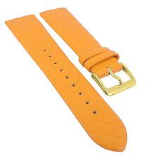 Minott Uhrenarmband | Leder gelborange Raute passend zu Skagen Denmark 29776