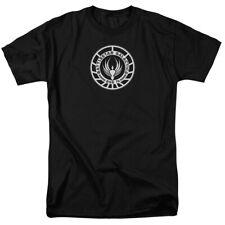 Battlestar Galactica Galactica Badge Mens Short Sleeve Shirt BLACK