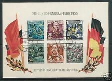 EAST GERMANY  # 264-a Souvenir Sheet  CTO Engels 1955