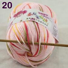 1ballx50g DK Baby Cashmere Silk Wool Children hand knitting Yarn Pink Red Moss