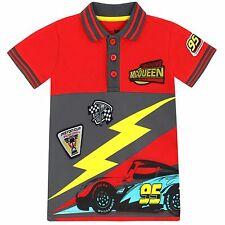 Disney Cars Polo Shirt | Kids Cars Top | Lightning McQueen T-Shirt | NEW