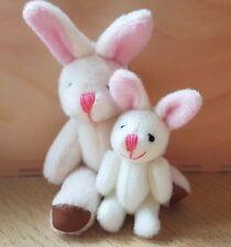 Miniatura 7cm o 3.5cm Articulado Crema Bunny Oso De Peluche Escala 1:12th Casa De Muñecas