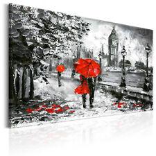 Leinwand Bilder xxl London Big Ben Regenschirm Wandbild Wohnzimmer d-B-0158-b-a