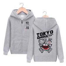 Men Casual Cotton Hoodies Print Anime Tokyo Ghoul Sweatshirt Cosplay Jacket Coat