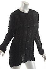 BITTE KAI RAND Black Rouched Button Down Sheer Long Sleeve Blouse Sz 36 38 $369