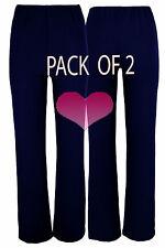 Ladies NAVY Nurse Health Care Work 2 PACK STRETCH Elasticated Bootleg Trousers.