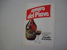 advertising Pubblicità 1978 AMARO DEL PIAVE
