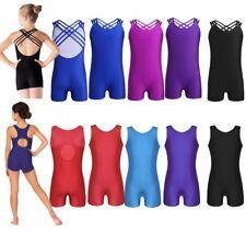 Girls Ballet Dance Skate Dress Leotard Unitard Kid Gymnastic Dancewear Costume