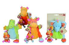 Nicotoy 104027343 Baby Handspielpuppe Jungle Tiere Krokodil oder Nilpferd *NEU*