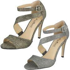 Ladies Anne Michelle Sparkly Heeled Sandals
