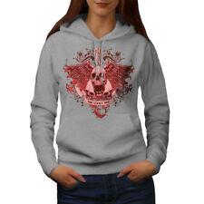 Wellcoda 13 The Lucky One Skull Womens Hoodie, Charm Casual Hooded Sweatshirt