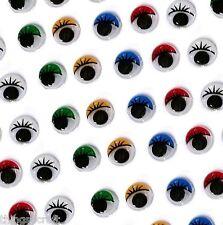 Craft Eyes - Colour Wiggly Wobbly Googly Eye -  Stick on - Choose Size UK Seller
