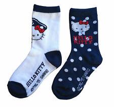 31-34 Socken Strümpfe-Söckchen 2 Paar Hello Kitty  Mädchen Gr