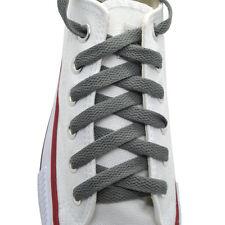 """Flat Shoelace 8 mm """"Dark Gray"""" Athletic Sneakers 27"""",36"""",45"""",54"""",63"""""""