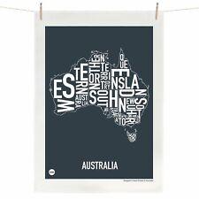 Australian Australia Tea Towel Australian Souvenir 100% Linen Map Gift