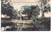 Rustic Bridge, Lake Bridge, Bloomington, Ill. Illinois.
