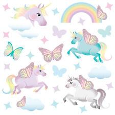 Magical Unicorn Horse & Rainbow Stars Childrens Wall Stickers ButterflyUni Unic9
