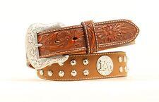 PRAYING COWBOY, CROSS, HORSE ~Brown Leather~MAN'S WESTERN BELT~Silver NOCONA 17