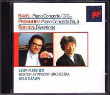 Leon FLEISHER: RAVEL PROKOFIEV BRITTEN Seiji OZAWA CD Left Hand Klavierkonzerte