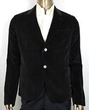 $2750 Gucci Men's Black Cotton Tulfan Velvet Formal Jacket 2 Buttons 406547 1000