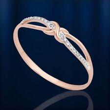 Russisches Rose Gold 585/14kt dünner RING mit DIAMANTEN 3mm breit 💖💖💖