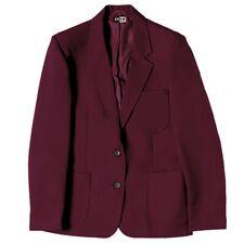 "Zeco Girls Fit School Uniform Plain Blazer 24""-52"" Chest Navy,Black,Bottle,Wine"