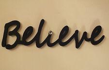 """Wooden """"Believe"""" Plaque Words/Letters Home/Door/Wall Decoration Art/Craft"""