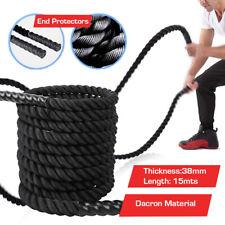 Dacron Battle Rope Power Training 15M/38mm/50mm Battling Sport Exercise Fitness