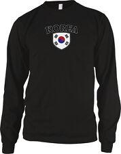 Korea Flag Crest Korean National Soccer Football Pride Long Sleeve Thermal